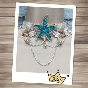 Jewelry - Starfish White Lace Necklace
